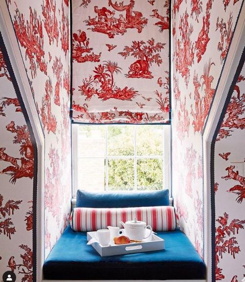 Pattern wallpaper Photo: Schumacher